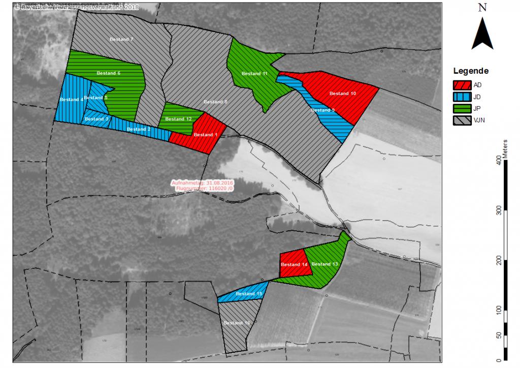 Karte für eine Flächenbewertung